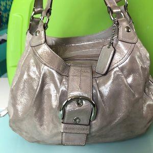 Silver sparkle Coach Handbag